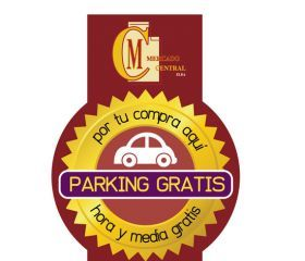 Logotipo de parking gratuito para clientes