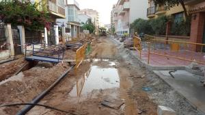 Calle Santa Rosa en obras