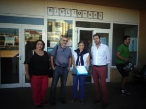 Concejales del PSOE Fuengirola en apoyo a la ampliación de horario de la Biblioteca Lope de Vega