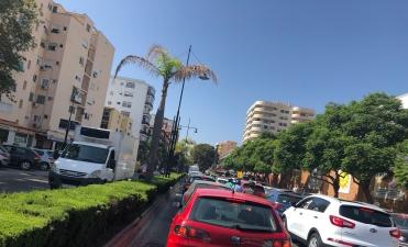 Trafico en pleno centro de Fuengirola